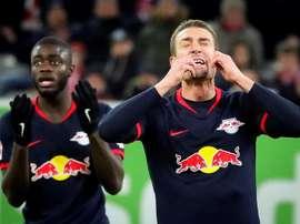 Sigue el excepcional momento de forma del RB Leipzig. EFE