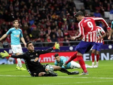Recital de paradas de Sergio Herrera ante el Atlético de Madrid. EFE