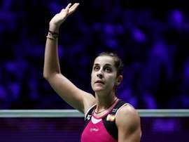 La jugadora de bádminton española Carolina Marín. EFE/EPA/Yoan Valat