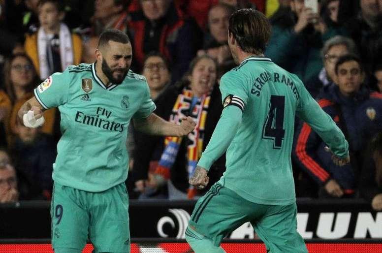 Ramos, Benzema and Jovic, ready for Sevilla. EFE