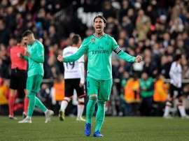Ramos compareció tras el agónico empate en Mestalla. EFE