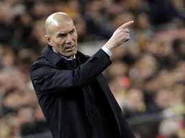 Zidane puso en valor el punto sumado en Mestalla. EFE