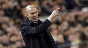 Zinédine Zidane est fier de son équipe. EFE