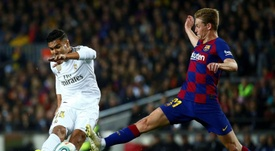 Valverde não queria De Jong. EFE/ Enric Fontcuberta.