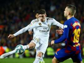 Fede Valverde aumenta a qualidade do Real Madrid. EFE/ Enric Fontcuberta