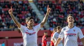 Banega, Nolito y Carriço acaban contrato en junio. EFE/Cati Cladera