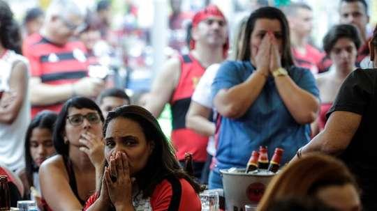 Apoyo de los aficionados de Flamengo. EFE