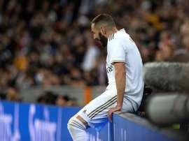 A preocupante seca de gols de Benzema. EFE