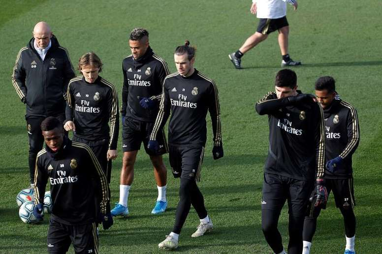 Gareth Bale volvió a entrenar con el Madrid. EFE