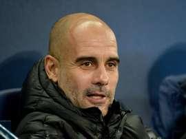 Guardiola est aux anges après la victoire acquise sur le Real Madrid. EFE