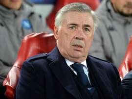 Ancelotti falou sobre sua saída do comando do Napoli. EFE/EPA/PETER POWELL