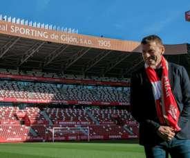 El Sporting recibe este martes al Elche. EFE/AlbertoMorante