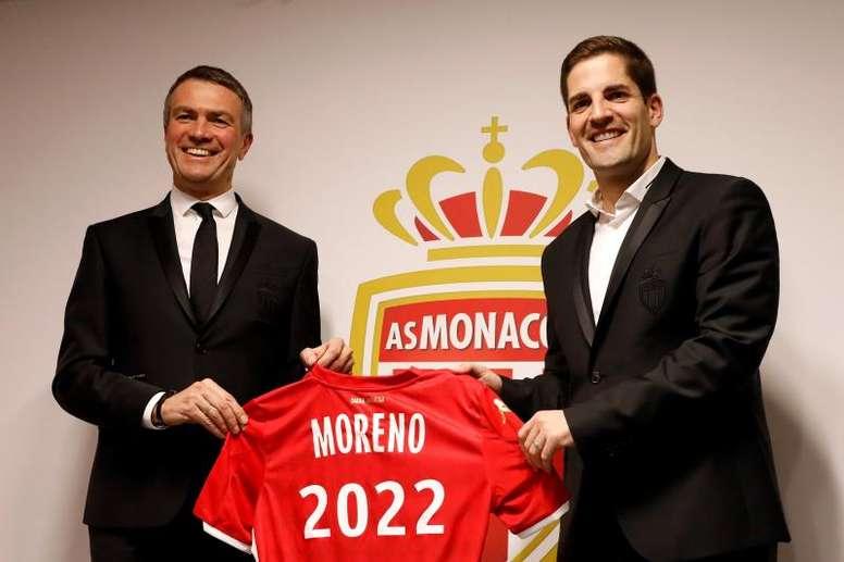 Robert Moreno fue presentado como entrenador del Mónaco. EFE