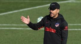 Simeone quiere un delantero en enero. EFE/Archivo