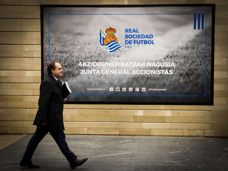 Aperribay habló sobre la Supercopa. EFE