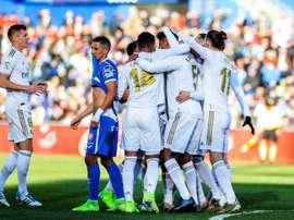 Les compos probables du match de Liga entre Getafe et le Real Madrid. efe