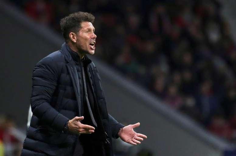 Desde que Simeone chegou ao Atlético, o clube sempre somou mais de 35 pontos a essa altura. EFE