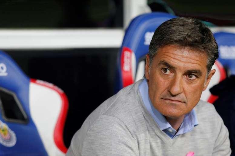 Míchel, ilusionado con el trabajo de sus jugadores. EFE/ Francisco Guasco/Archivo