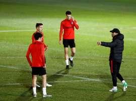 Cholo Simeone insiste. EFE/Juan Carlos Hidalgo