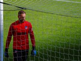Oblak está perto de uma marca incrível com o Atlético. EFE/Emilio Naranjo