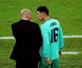 Zidane comprend James. EFE