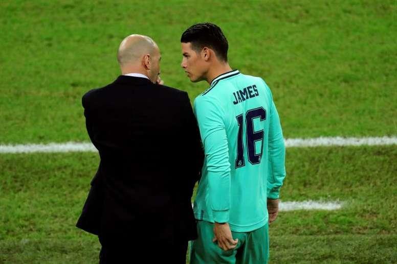 L'avenir de James Rodriguez est incertain. EFE