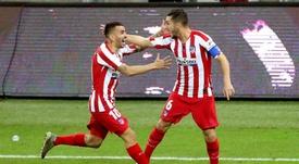 El Atlético no perdió la fe y logró acabar con un Messi enorme. EFE