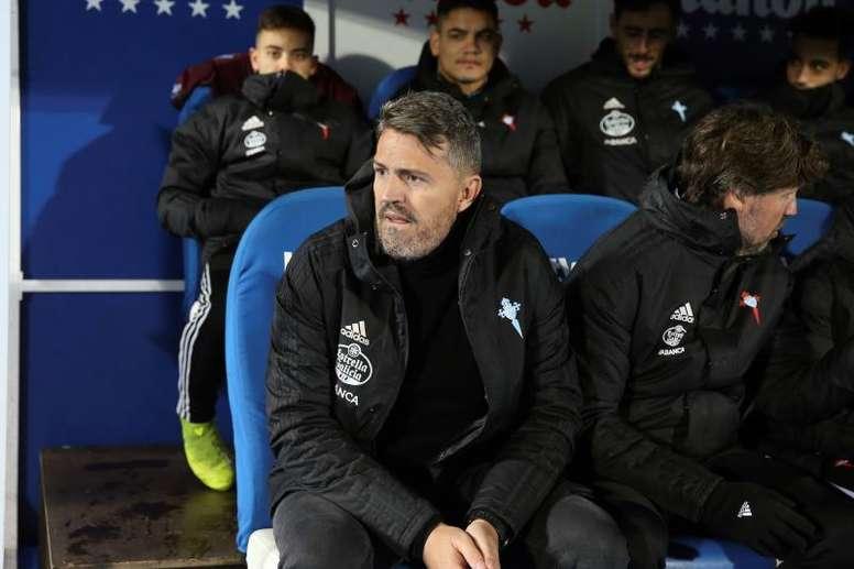 Óscar García, contento pese a la derrota del Celta. EFE/Rodrigo Jiménez