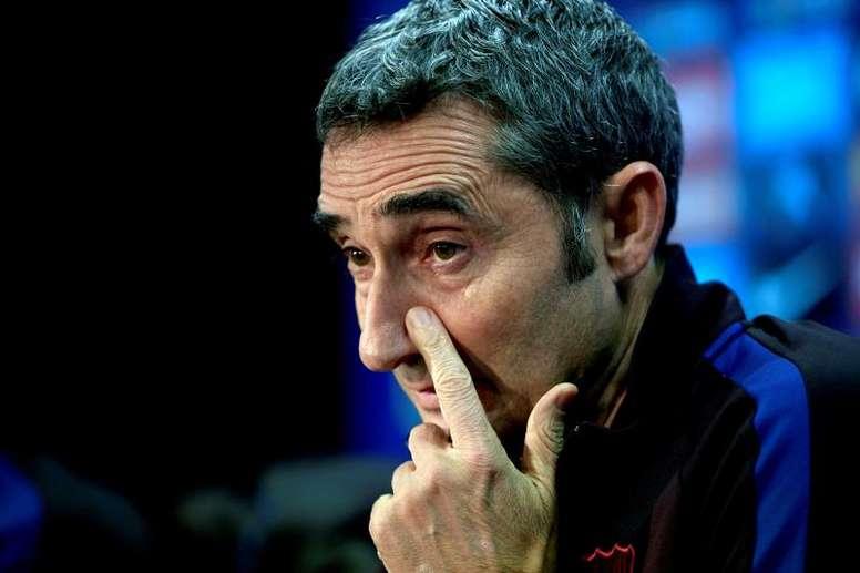 Ernesto Valverde não é mais treinador do Barcelona. EFE
