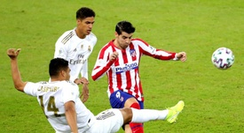 Morata ya lleva un año jugando en el Atleti. EFE
