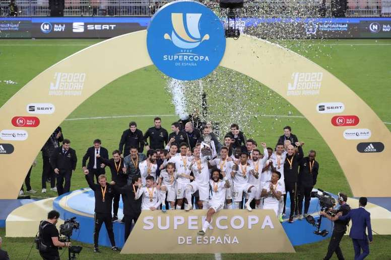 Real Madrid were crowned Spanish Super Cup champions after a dramatic shootout win v Atletico. EFE