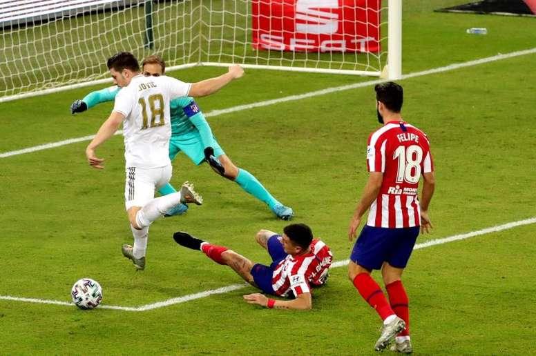 Jovic le cuesta al Madrid 30 millones de euros por gol. EFE/Juanjo Martín