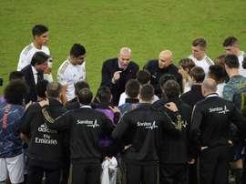 Zidane transmitirá su confianza a la plantilla antes del 'Clásico'. EFE