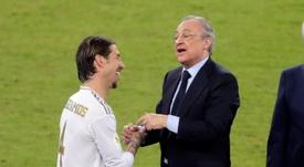 La relación entre Ramos y su hermano René con Florentino. EFE