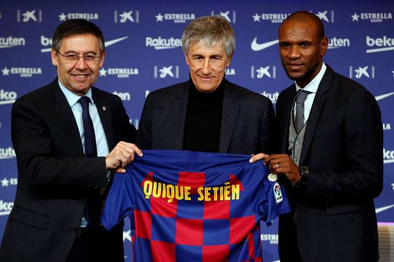 Quique Setién was officially presented on Wednesday morning. EFE