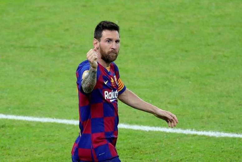 Messi respondió a Abidal en Instagram. EFE