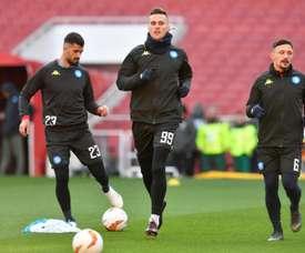 Atlético de Madrid já tem um acordo com Milik. EFE/ Neil Hall