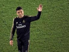 Casemiro habló sobre su época en la cantera del Madrid. EFE/Kiko Huesca