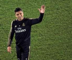 Casemiro spoke about his time at the RM academy. EFE/Kiko Huesca