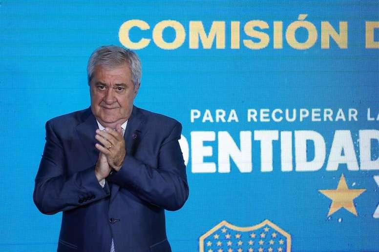 Jorge Ameal destacó la importancia de Tévez. EFE/Juan Ignacio Roncoroni/Archivo
