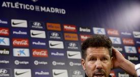 Simeone promete buscar soluciones para el Atlético. EFE