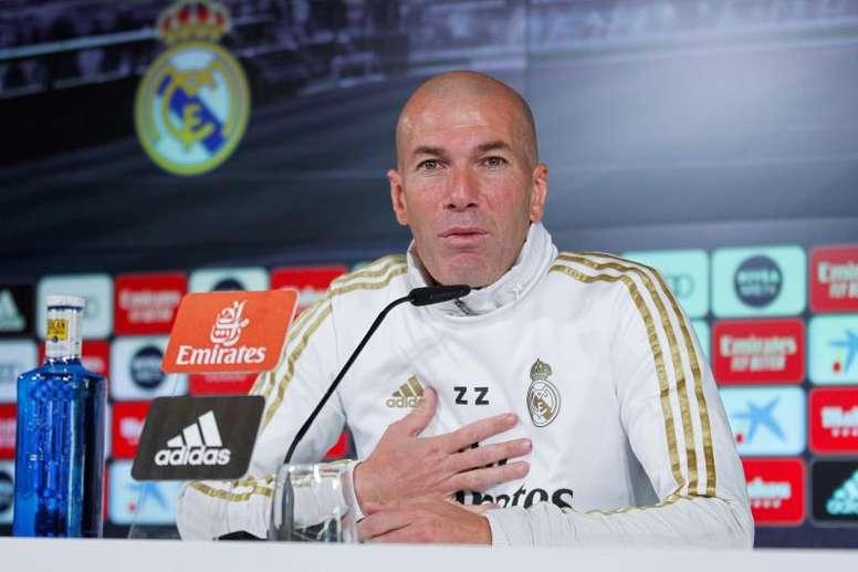 Zidane analizó el partido ante el Sevilla. EFE