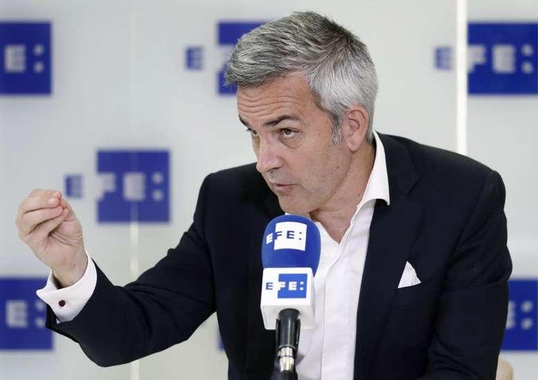 Víctor Font repasó la actualidad azulgrana. EFE
