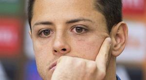 Los Angeles Galaxy se nega a abrir mão de Chicharito. EFE/Maja Hitij