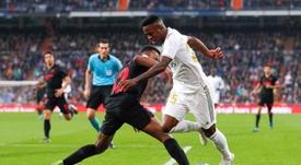 Vinicius ya lleva 50 encuentros con el Madrid. EFE