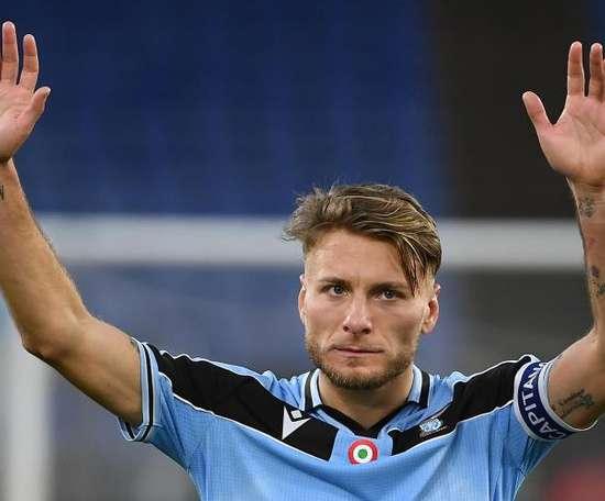 Immobile hace a la Lazio soñar en su undécimo triunfo seguido. EFE