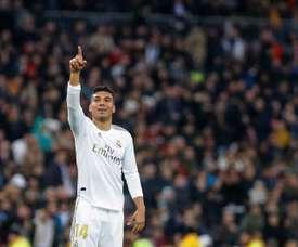 Casemiro falou da situação do Real na Liga dos Campeões. EFE/Emilio Naranjo