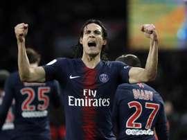 PSG recusa proposta do Atlético de Madrid por Cavani. EFE/EPA/Christophe Petit Tesson
