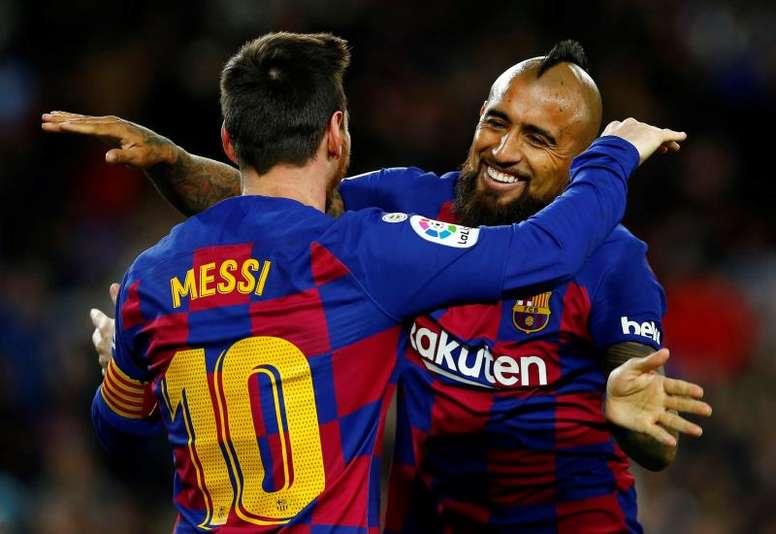 Les compos probables du match de Liga entre Valence et le FC Barcelone. EFE/Enric Fontcuberta