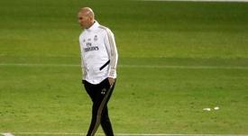 Zidane recibió buenas noticias en la sesión 'merengue'. EFE